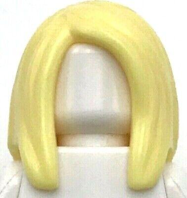 Lego New Bright Light Yellow Minifigure Hair Female Long Straight Blonde Wig