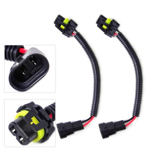 9006 Headlight Fog Light 2x Extension Wiring Harness Socket Plug Wire Fit HB4
