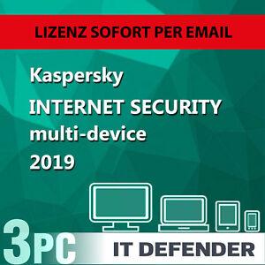 Kaspersky Internet Security 2019 / 3PC / Geräte 1Jahr Vollversion /auch für 2018