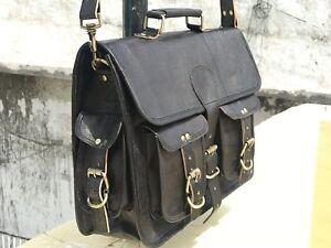 Men-039-s-Leather-Brown-Black-Briefcase-Laptop-Shoulder-Bag-messenger-Bag-Tote