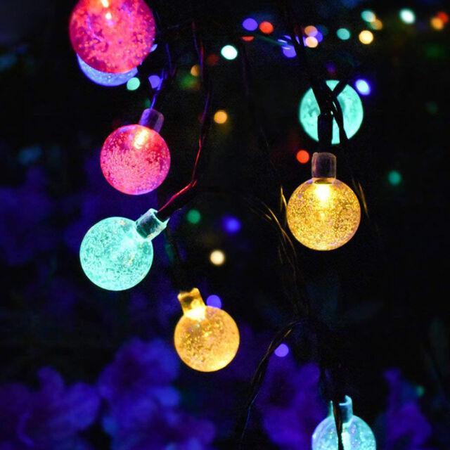 Exceptional Outdoor Ball Lights Part - 7: 20ft 30 LED Solar String Ball Lights Outdoor Waterproof Warm White Garden  Decor*
