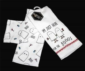 Details About 2 Roswell Relics Halloween Im Just Here For The Boos Wine Kitchen Towels Nwt