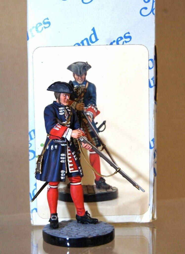 ALMOND SCULPTURES STADDEN FUSILIER of the GARDES FRANCAIS 1720 STUDIO PAINTED ot