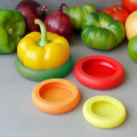 4pcs Flexible Silicone Fruit Vegetable Food Huggers Storage Cover Reusable Mixed