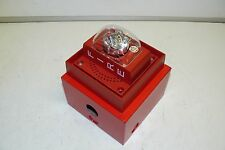 SIEMENS S-LP70-S75 FIRE PROTECTION ALARM STROBE UNIT 75 CANDELA W/ MOUNTING BOX