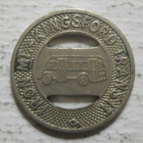Iron Mountain Michigan transit token KIngsford Transit MI500A