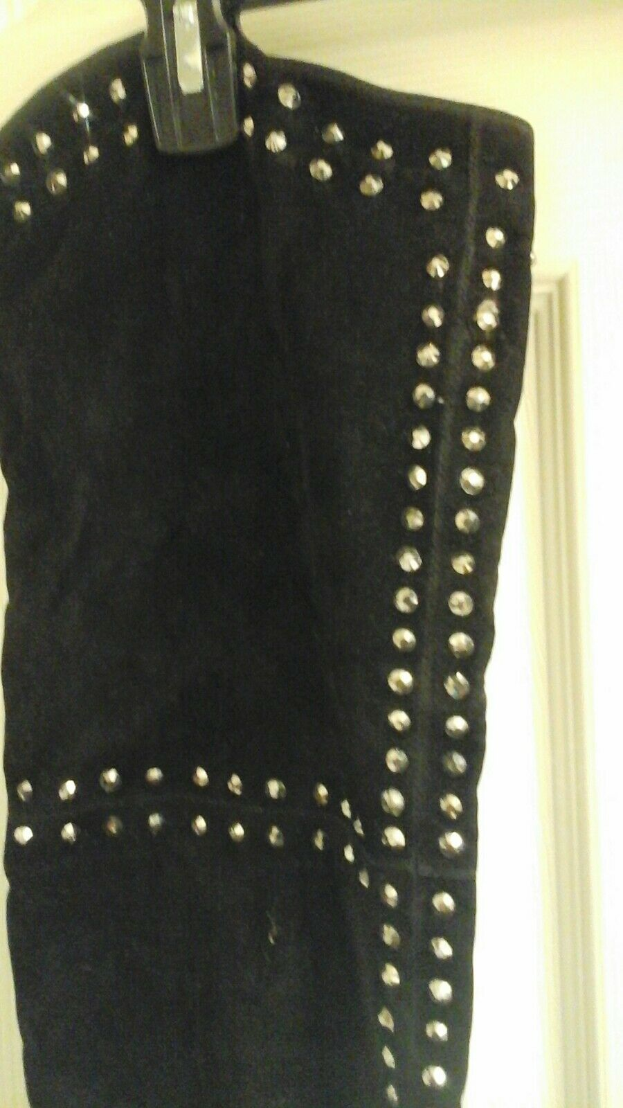 Society 86, Black Suede studded knee High Boots, Boots, Boots, zipper, women's size 6.5, NWT 1e9938