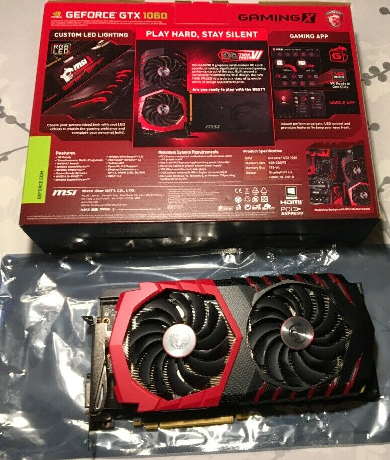 GTX 1060 MSI GAMING X, 6 GB RAM, Perfekt