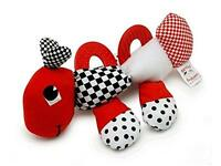 Baby's First Caterpillar Pal - Black, White & Red Teether Toy, New, Free Shippin