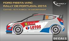 DECALS 1/43 FORD FIESTA WRC - #10 - KUBICA - RALLYE PORTUGAL 2014 - D43304