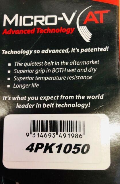SALE - Gates Belt 4PK1050 Micro-V Driving Belt Advanced Technology