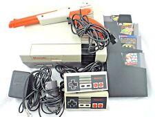 Original Nintendo NES Grey Deluxe Game System w Games Zapper Gun Controller