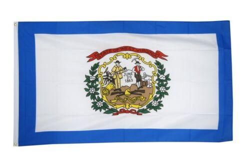 DRAPEAU USA WEST VIRGINIA Drapeau Américain Hissflagge 90x150cm