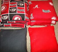 Set Of 8 University Of Alabama Crimson Tide Cornhole Bags
