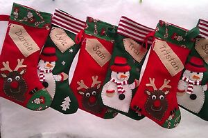 Personalised Christmas Stocking - Handmade | eBay