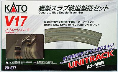 Kato 20-877 UNITRACK Variation Set V17 Concrete Slab Double Track Set (N scale)