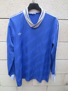 Maillot-ADIDAS-vintage-porte-n-11-Trefoil-shirt-oldschool-trikot-VENTEX-France-L