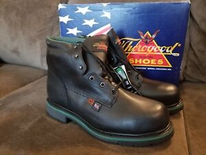 a52138dfeed Details about Thorogood Shoes Size 9 D Men's Black Steel Toe Work Boots