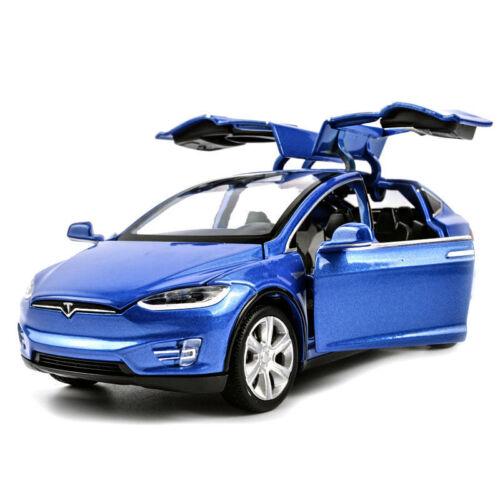 Tesla Model X 90d Suv 1:32 Diecast Model Car Sound/&Light Pull Back Cars Toy