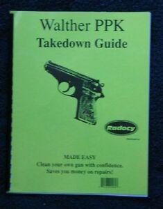 walther model ppk ppk s pp takedown disassembly assembly guide rh ebay com
