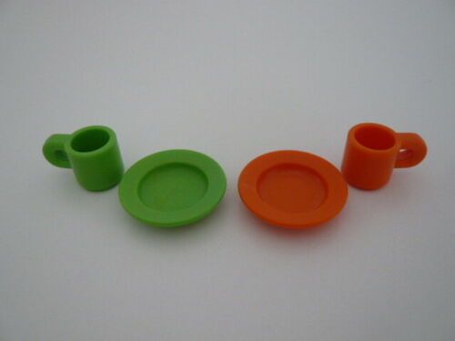 Playmobil Geschirr Teller Becher Tasse Küche Einrichtung Puppenhaus Stadtleben