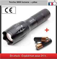 Torche CREE T6 3800 lumens led + piles
