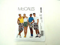 Mccall's Pattern Teens' Boxer Shorts Misses' Men's Size 38-40 Or 42-44 M6104