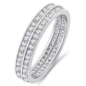 Simulated-Diamond-Sterling-Silver-Engagement-Wedding-Band-Ring