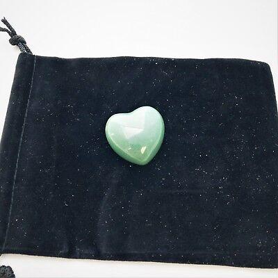 Green Aventurine Crystal Puff Heart