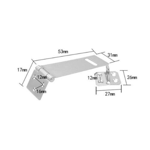 Portable Home Stainless Steel Hasp Door Lock Buckle Locker Latch Bolt Secure  BW