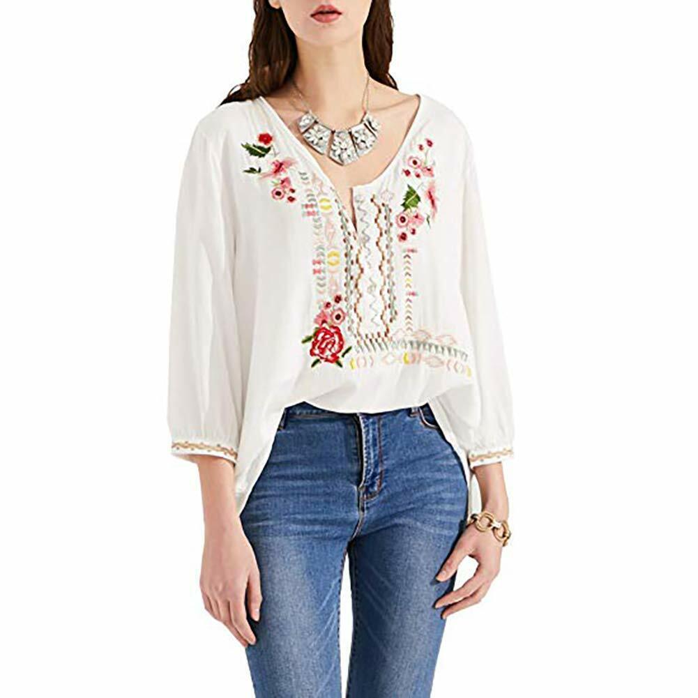Upcycled OOAK Boho Gypsy Short Cowgirl ~Shirt~Tunic~ Vest  Embroidered Rose Appliqu\u00e9 on Back size M