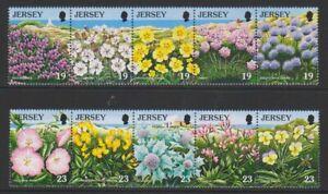 Jersey-1995-Nature-Conservation-Fleurs-Ensemble-MNH-Sg-707-16