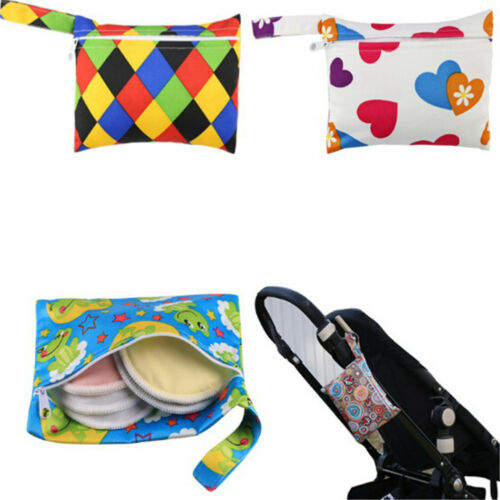 Mini Nursing Wet Bag Waterproof Reusable for Mama Cloth Menstrual Pad IO