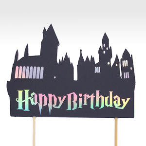 UK Seller Harry Potter Hogwarts Happy Birthday Cake Topper Party Decoration