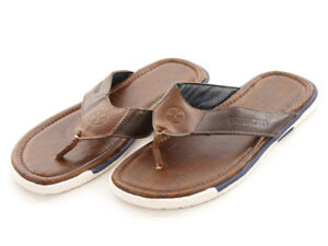 Separator Slipper Toe cuir Chaussure en brun Brunotti Escozo d'été wqFWafx4pt