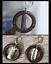 Namaste-Palm-Wood-Circle-Enso-1-034-Earrings-Silver-Yoga-Meditation-Handmade-Boho thumbnail 1