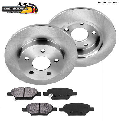 FOR 2004-2012 Chevy Malibu 2007-2010 Saturn Aura Rear Brake Rotors Ceramic Pads