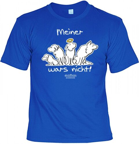 T-Shirt für Hundefreunde Meiner war`s nicht Mit Urkunde als Geschenk