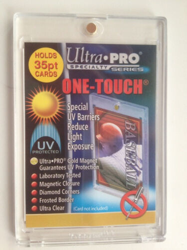 50 ULTRA PRO One Touch Magnetic Holders 35pt UV Gold Magnet New 35 pt point