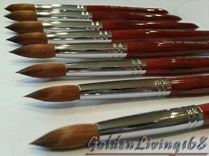 Watercolor or calligraphy kolinsky red sable brush round