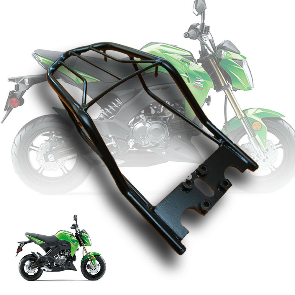 Details About Black Rear Luggage Rack Carco Cover For Kawasaki Z125 Z125 Pro