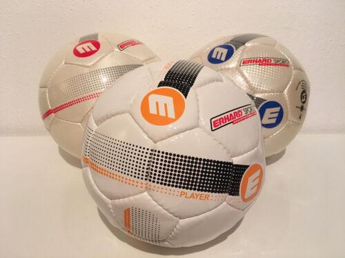 Fußball Erhard Sport / PLAYER CORNER / gelb rot blau / Size Gr. 3 / 4 / 5 Futbol