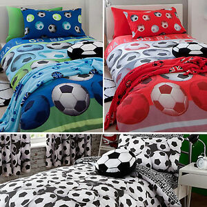 Image Is Loading Kids Football Bedding Range Duvet Set Or Rug
