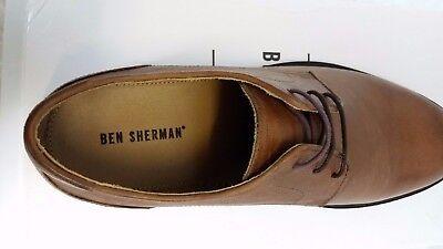Nuevos Zapatos para Hombre Ben Sherman UK 10 EUR 44 Cuero Marrón Bronceado Real!!! A531