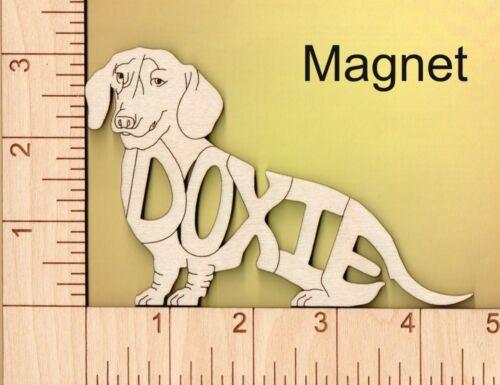 Dachshund Doxie Dog laser cut wood Magnet Great Gift Idea