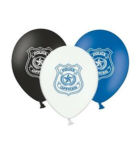 Police-Officer-Badge-12-034-Printed-Latex-Assorted-Balloons-Pack-of-6