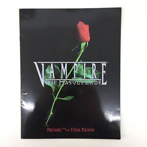 Vampire The Masquerade 1998 Aperçu Rare Collection Promo Magazine Loup Blanc