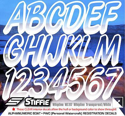 YELLOW STIFFIE Whipline WL107 Boat PWC Numbers Decal Registration SEA-DOO ELEC