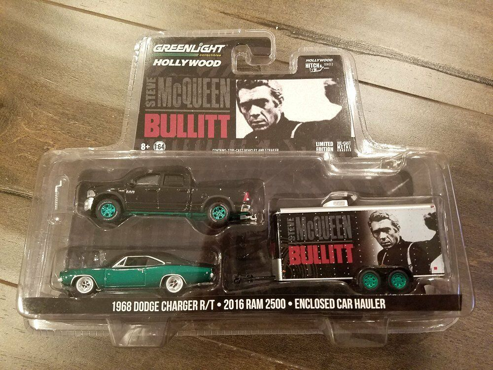GREENLIGHT 1 64 2016 RAM 2500 & 1968 DODGE CHARGER CHARGER CHARGER R T BULLITT CHASE CAR 31020-B bf971f