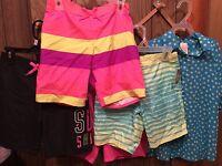 Girls Summer Lot Clothes Size 7/8 Op Shorts (4) And Polka Dot Shirt